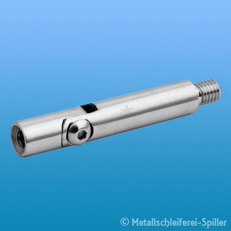 Edelstahl Verbindungsstift 12mm 2x M6 Innen L110mm VA